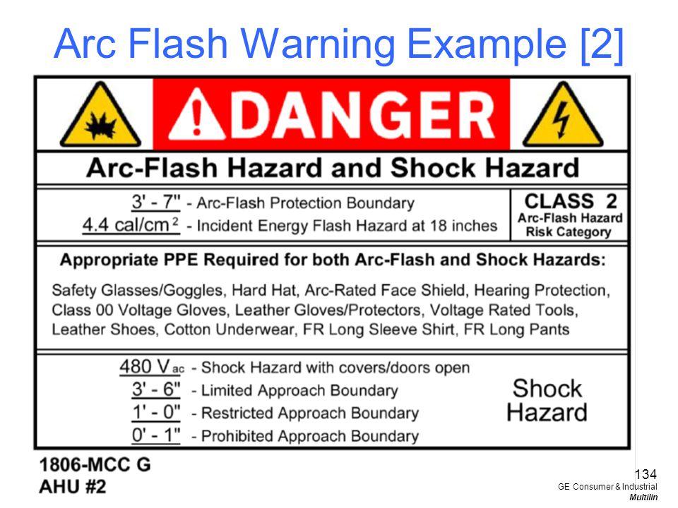 Arc Flash Warning Example [2]